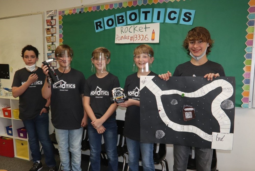 Wesley Prep Sixth Graders Compete in Robotics Competition:  honored with Core Values Award!